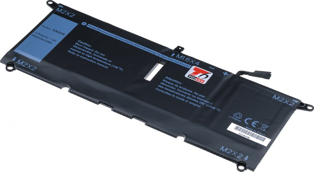 Baterie T6 power Dell XPS 13 9370, 6840mAh, 52Wh, 4cell, Li-pol