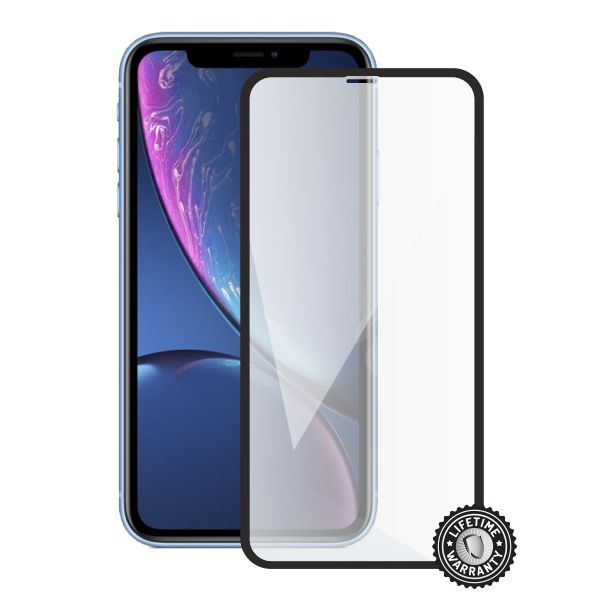 Screenshield APPLE iPhone Xr Tempered Glass protection (full COVER black)
