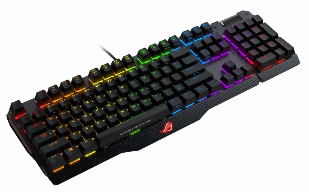 ASUS ROG MA01 Claymore BROWNCHERRYUS  RGB  mech keyboard w LED lightning US layout
