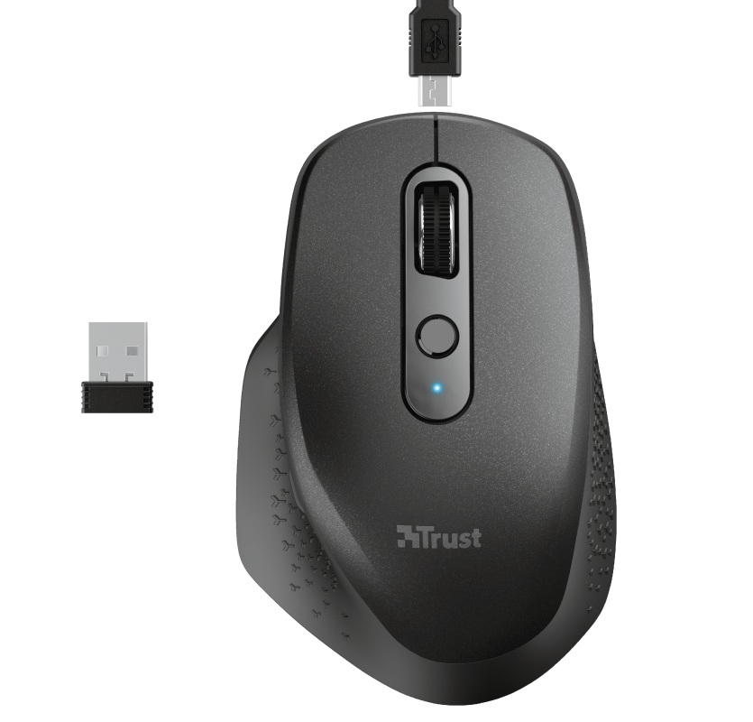 TRUST OZAA RECHARGEABLE MOUSE BLACK