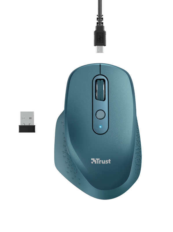 TRUST OZAA RECHARGEABLE S MOUSE BLUE