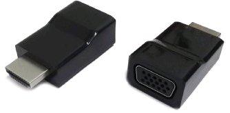 Kab. redukce HDMI na VGA, M/F, černá