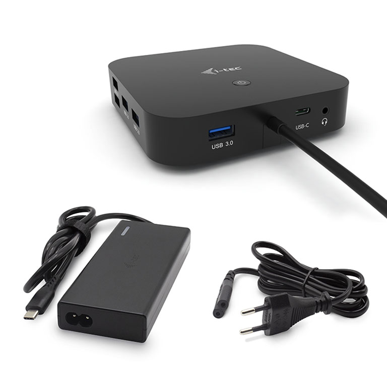 itec USBC Dual Display Docking Station s Power Delivery 65W  itec Universal Charger 77W