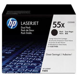 HP tisková kazeta černá velká, CE255XD - 2 pack