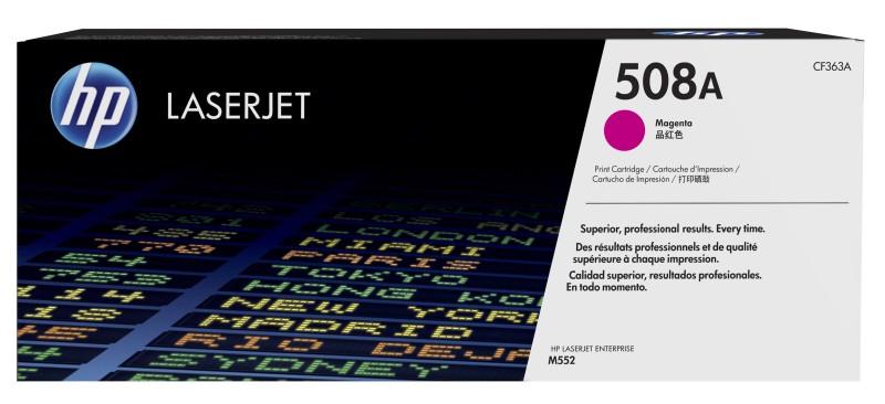HP 508A tisková kazeta purpurová, CF363A