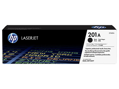 HP 201A tisková kazeta černá, CF400A