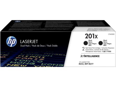 HP 201X tisková kazeta černá velká,CF400XD -2 pack