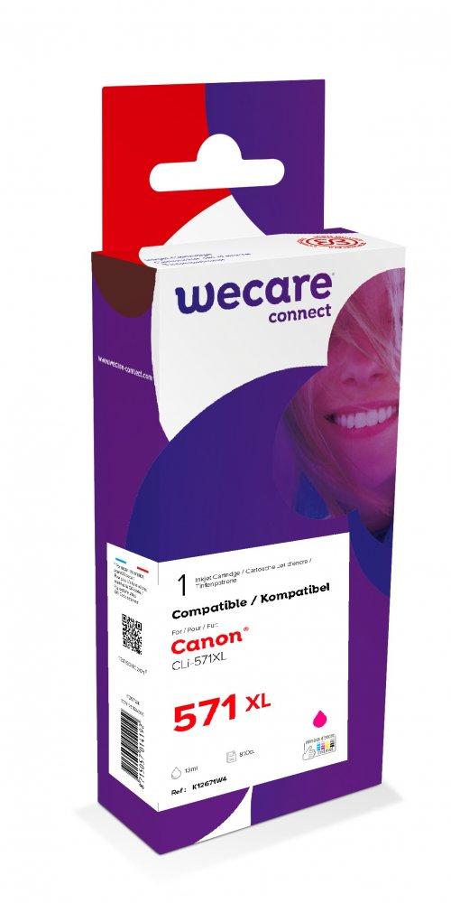 WECARE ink pro CANON CLi-571XLM,červená/magenta