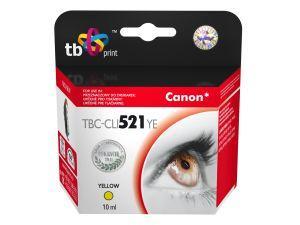 Ink. kazeta TB kompat. s Canon CLI-521Y 100% new