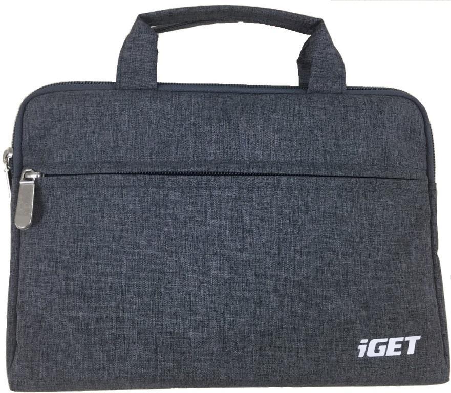 iGET iB10 - univerzální pouzdro na zip s poutky do 10.1'' pro tablety - šedočerná
