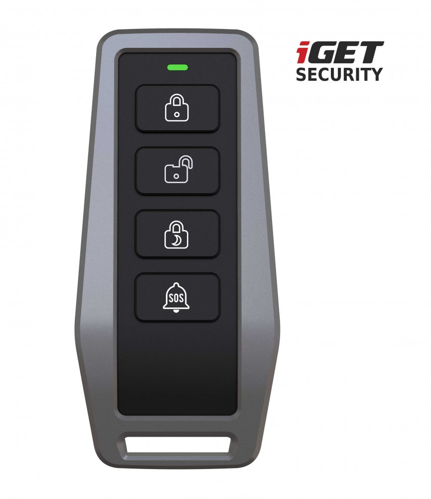 iGET SECURITY EP5 - dálkové ovládání (klíčenka) pro alarm M5, výdrž baterie až 5 let