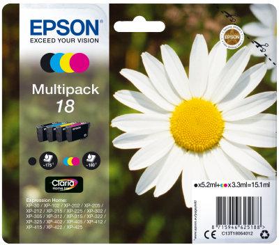 Epson Multipack 4colours 18 Claria Home Ink