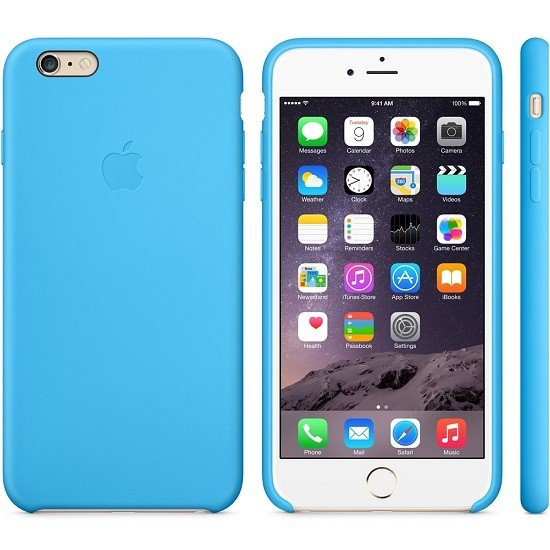 MGRH2ZM/A Apple Silicone Cover Blue pro iPhone 6/6S Plus