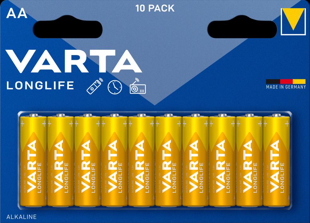 Varta Longlife AA Baterie 10ks