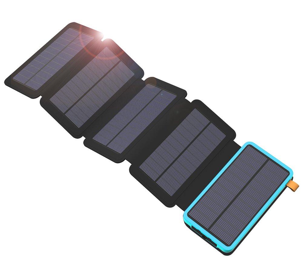 Allpowers XD-SC-010-BBLU Solární nabíječka 7,5W + 20000mAh PowerBank Black/Blue