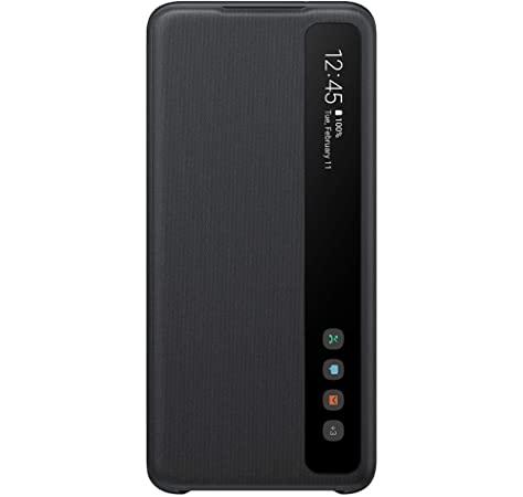 EF-ZG985CBE Samsung Clear S-View Pouzdro pro Galaxy S20+ Black