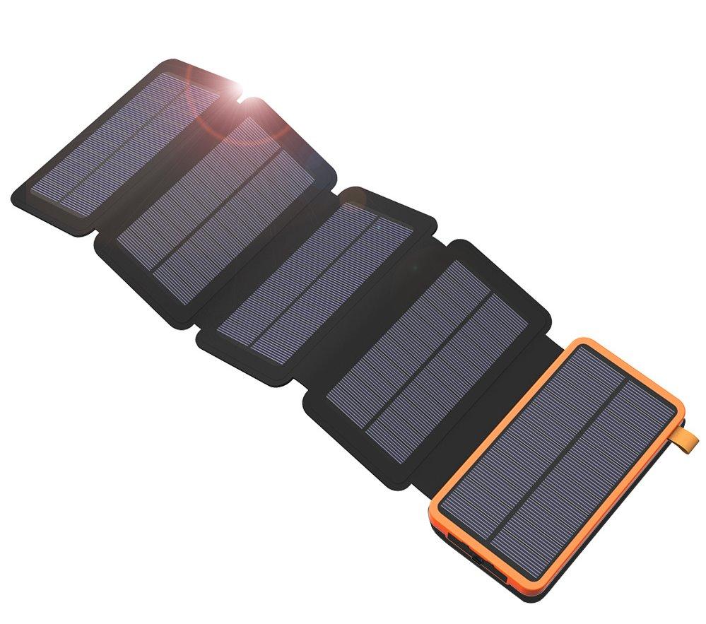 Allpowers XD-SC-010-BORA Solární Nabíječka 7,5W + 20000mAh PowerBank Black/Orange