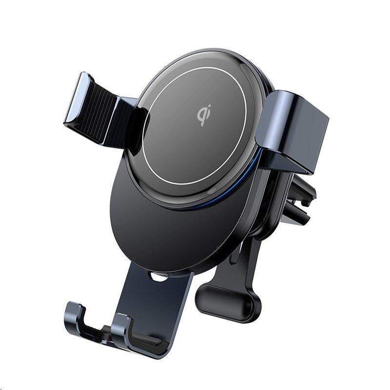 Joyroom JR-ZS212 Blue Whale Gravitační Držák Telefonu do Auta s Bezdrátovým Nabíjením (do Ventilátoru) Deep grey