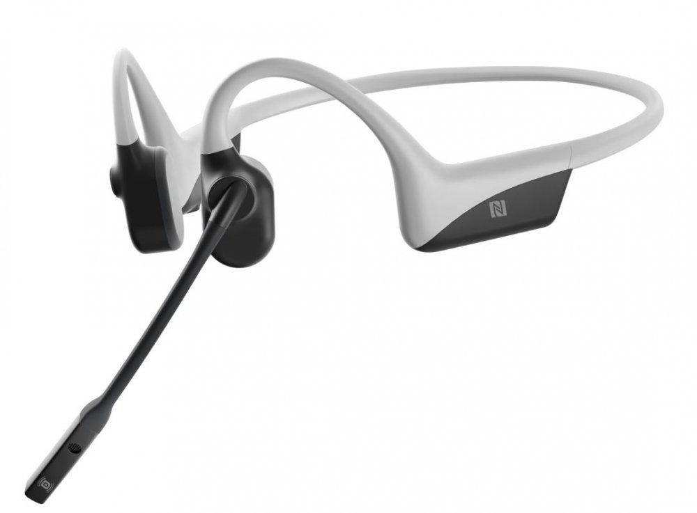 AfterShokz OpenComm, Bluetooth sluchátka před uši s mikrofonem, světle šedá