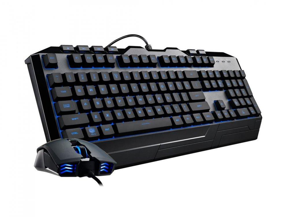 Cooler Master Devastator III, herní set klávesnice a myši, 7 barev LED, US layout, černá