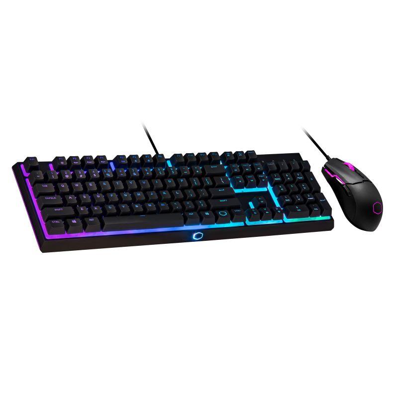 Cooler Master MS110, herní set klávesnice a myši, RGB LED, US layout, černá