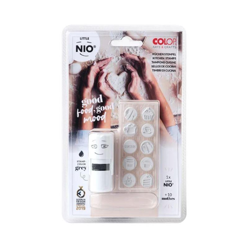 COLOP Little NIO Kitchen (10 ks motivů+razítko+polštářek šedé barvy)
