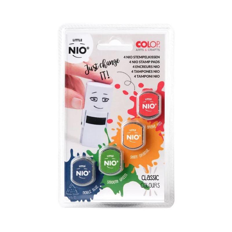 COLOP Little NIO stamp pads classics (4 ks polštářků v klasických barvách)
