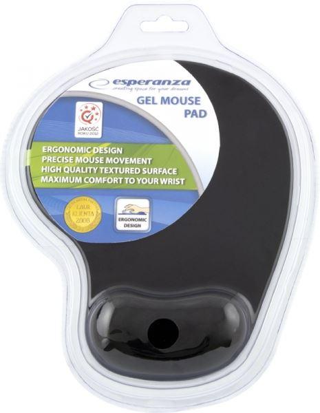 Podložka pod myš Esperanza - gelová, černá