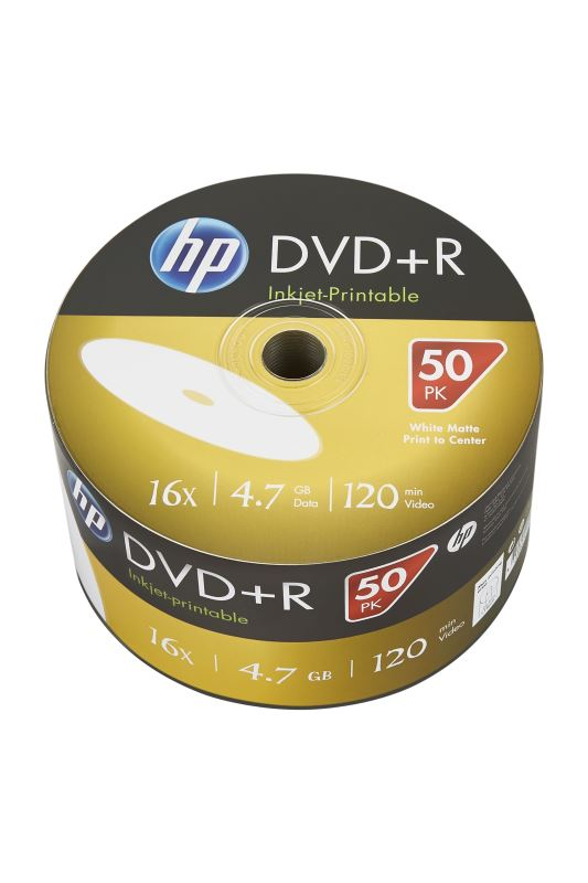 DVD-R HP 4,7 GB (120min) 16x Inkjet Printable 50-spindle bulk
