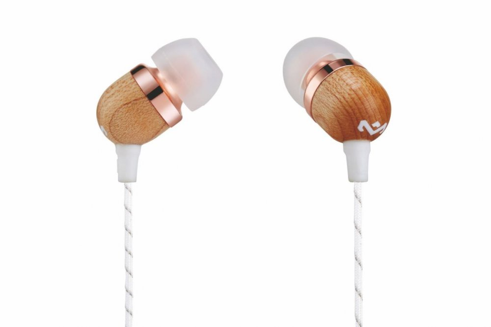 MARLEY Smile Jamaica - Copper, sluchátka do uší s ovladačem a mikrofonem