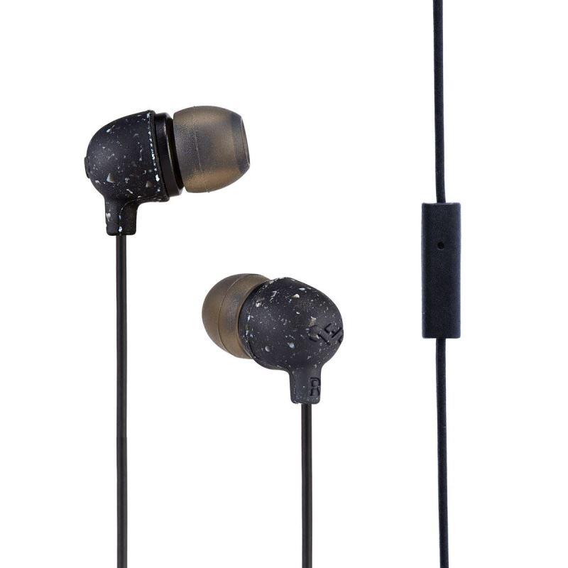 MARLEY Little Bird - Black, sluchátka do uší s ovladačem a mikrofonem