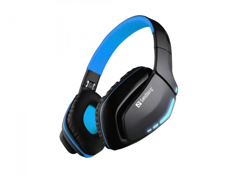 Sandberg sluchátka Bluetooth Headset Blue Storm s mikrofonem, černá