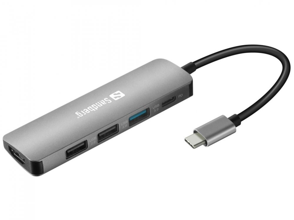 Sandberg USB-C Dock HDMI+3xUSB+PD 100W