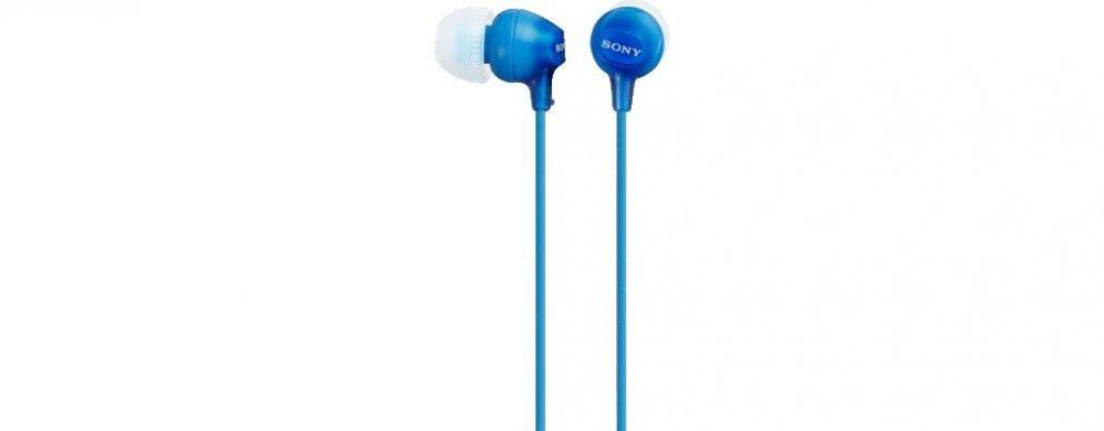 Sony MDREX15LP, modrá sluchátka do uší řady EX