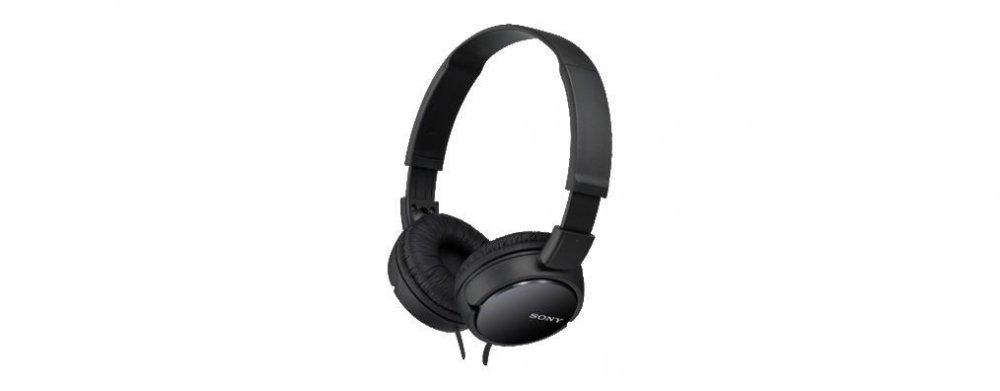 Sony MDRZX110, černá sluchátka s hlavovým mostem