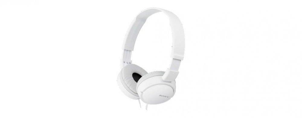 Sony MDRZX110AP, bílá sluchátka s hlavovým mostem pro android