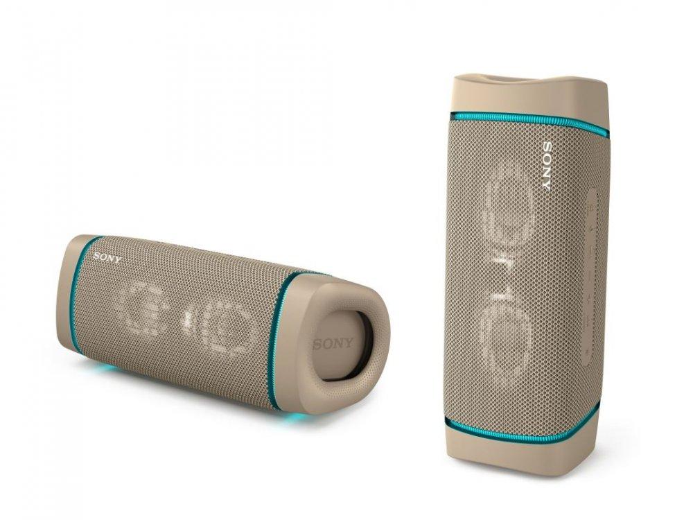 Sony SRS-XB33 přenosný bezdrátový reproduktor IP67, Bluetooth® a Extra Bass™, šedý