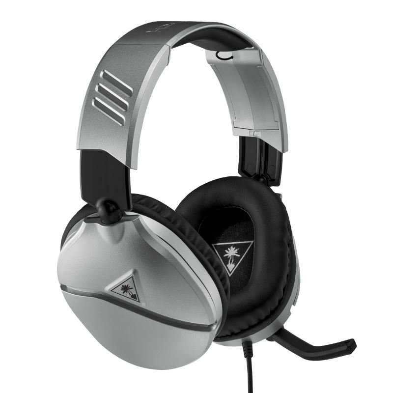 Herní sluchátka Turtle Beach RECON 70,stříbrná, 3.5mm, PS5, Xbox One/series X/S, Nintendo