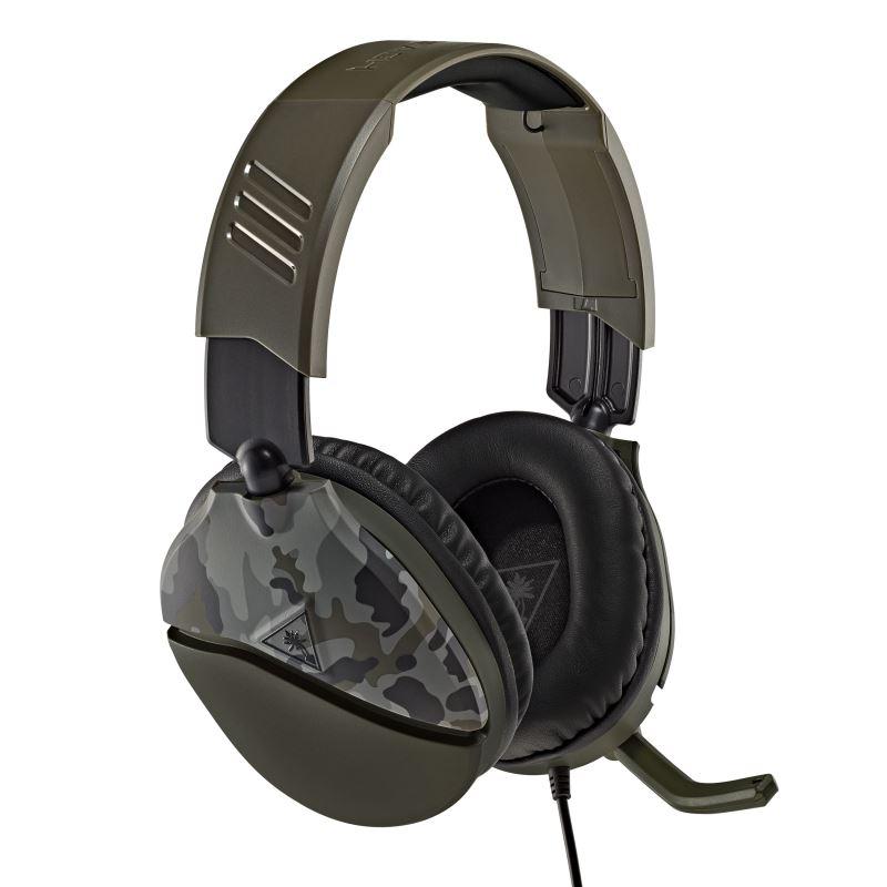 Herní sluchátka Turtle Beach RECON 70, camuflage zelená, 3.5mm, PS5, Xbox One/series X/S, Nintendo