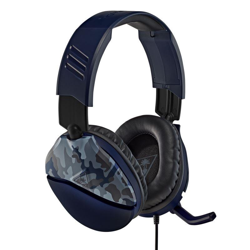 Herní sluchátka Turtle Beach RECON 70, camuflage modrá, 3.5mm, PS5, Xbox One/series X/S, Nintendo