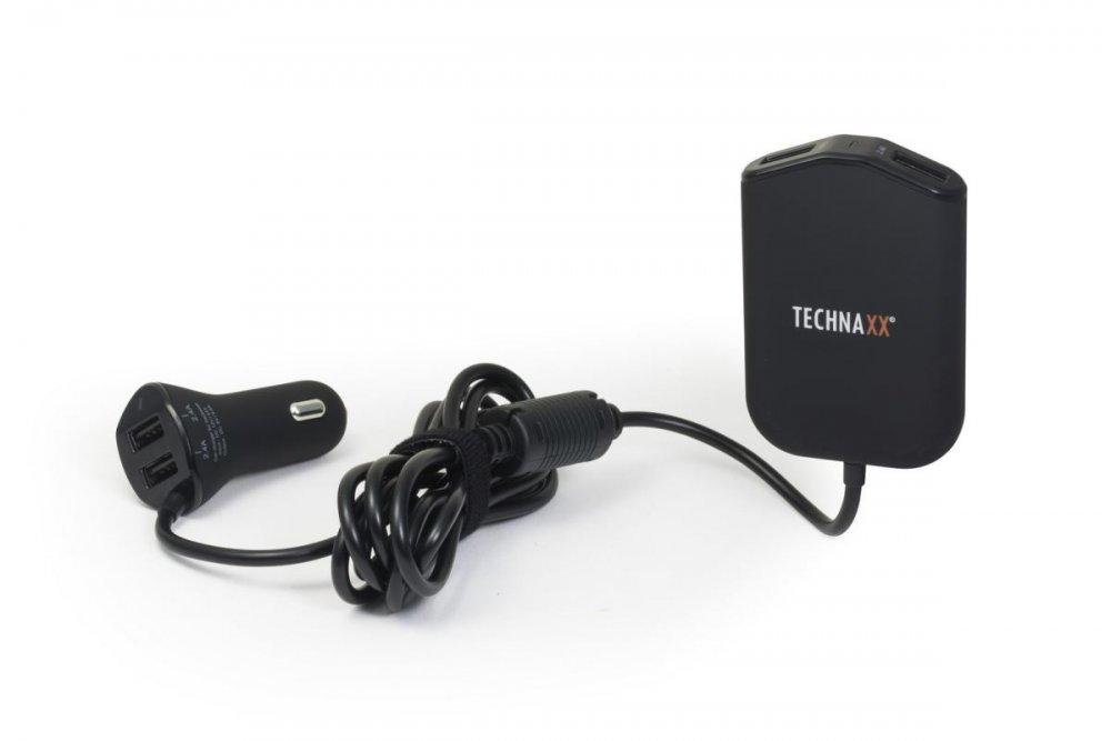 Technaxx Rodinná nabíječka do auta 4x USB (4x max. 2,4A), (TE14)