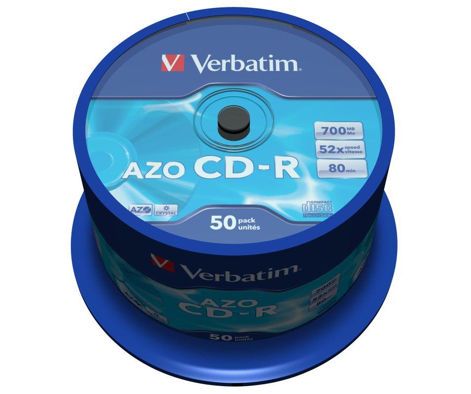 CD-R Verbatim DLP 700MB (80min) 52x Crystal 50-cake