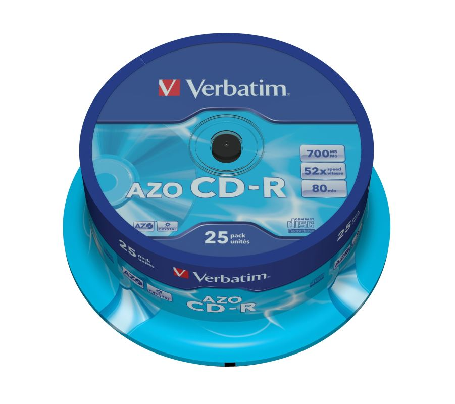 CD-R Verbatim DLP 700MB (80min) 52x Crystal 25-cake