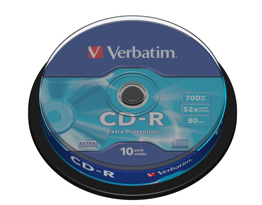 CD-R Verbatim DL 700MB (80min) 52x Extra protection 10-cake