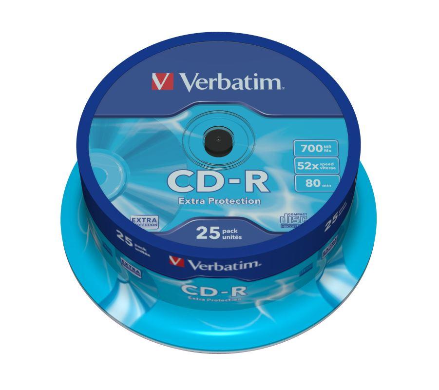CD-R Verbatim DL 700MB (80min) 52x Extra Protection 25-cake
