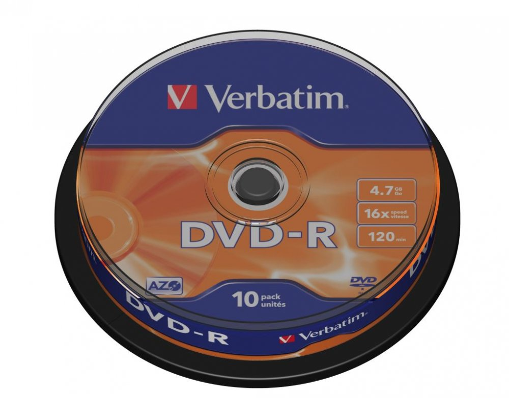 DVD-R Verbatim 4,7 GB (120min) 16x 10-cake