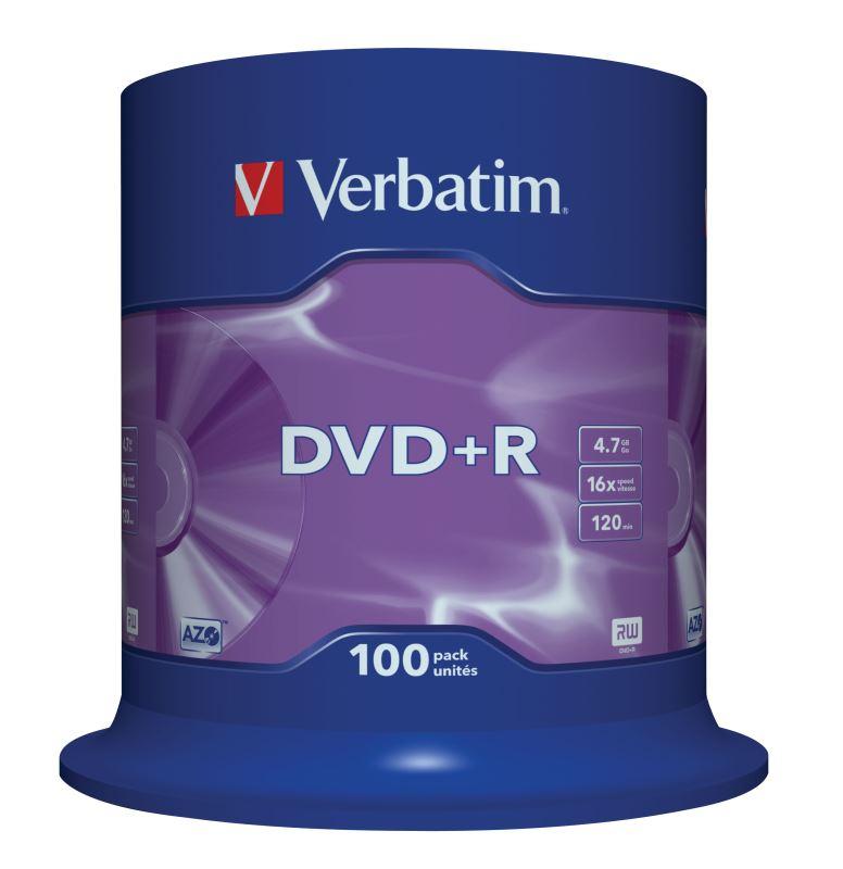 DVD+R Verbatim 4,7 GB (120min) 16x 100-cake