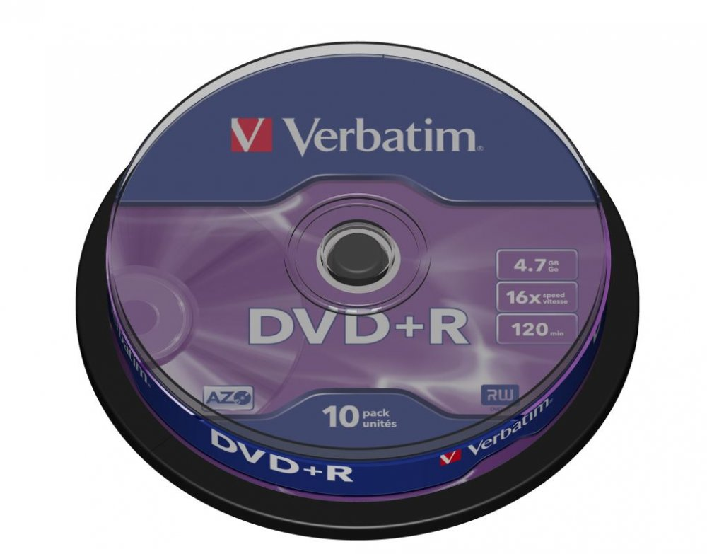 DVD+R Verbatim 4,7 GB (120min) 16x 10-cake