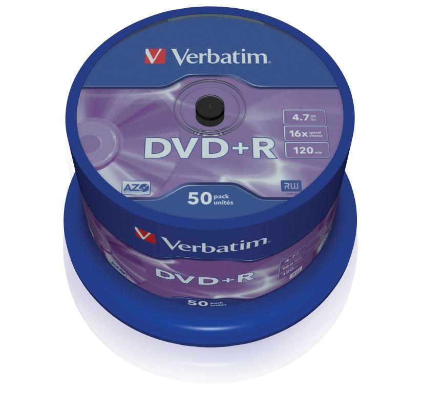DVD+R Verbatim 4,7 GB (120min) 16x 50-cake