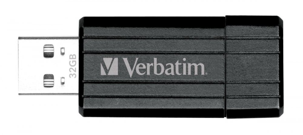 32GB USB Flash 2.0 PIN STRIPE Store'n'Go černý Verbatim P-blist